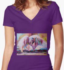 Observer Women's Fitted V-Neck T-Shirt