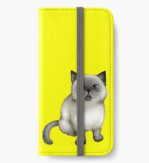 Lampo the cat (yellow background) iPhone Wallet/Case/Skin