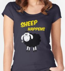 Sheep Happens Women's Fitted Scoop T-Shirt