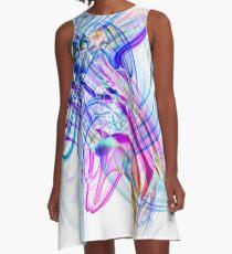 Recycled Smoke Art Design 0417 (8)a A-Line Dress
