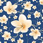 Seamless Pattern Bloom Flowers by Olga Altunina