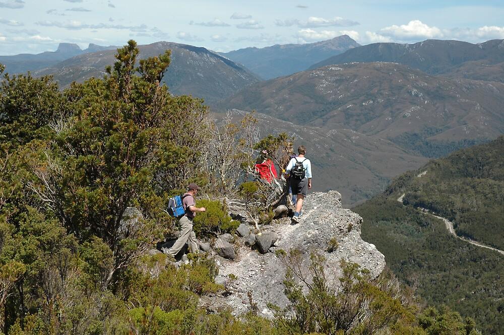 descending Mt Murchison - photo taken by Mark Dwyer (not me) -  Tasmania by gaylene