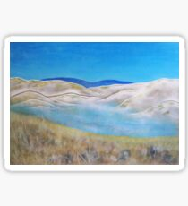 Lakeside . Acrylic Painting Sticker