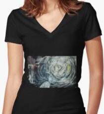 Leap in Time Women's Fitted V-Neck T-Shirt