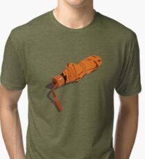 Rolled up orange umbrella - shadow Tri-blend T-Shirt