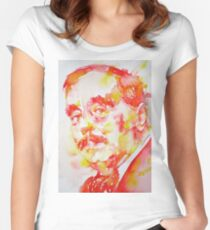 H. G. WELLS - watercolor portrait Women's Fitted Scoop T-Shirt