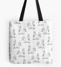 wired grayscale Tote Bag