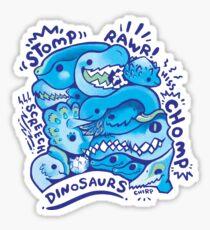 Dino Squad in Blue Sticker