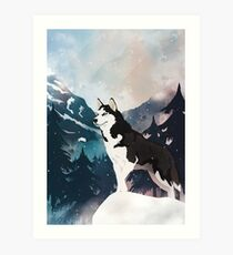 Mountain Husky  Art Print