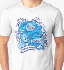 Dino Squad in Blue Unisex T-Shirt