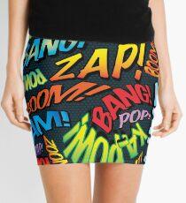 Pop Art Comic Book Sounds Superhero Mini Skirt