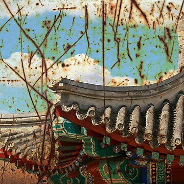 Grunge Chinese Pagoda by rosscojj