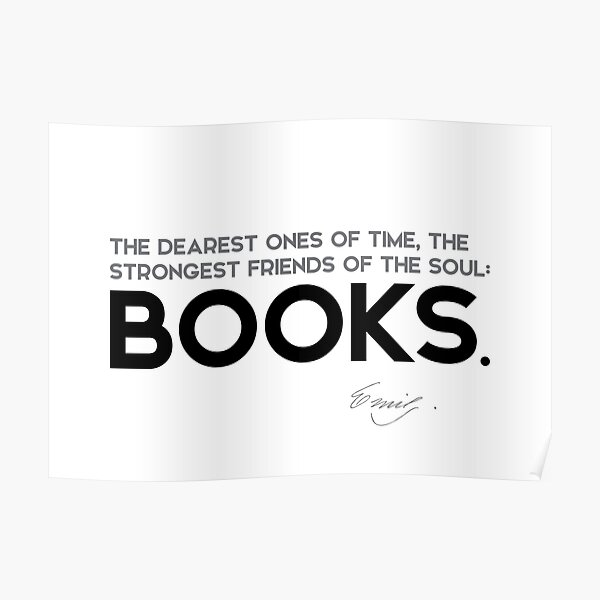 friends of the soul: BOOKS - emily dickinson Poster