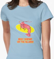 Kamekona's: Best Shrimp on the Island! Women's Fitted T-Shirt