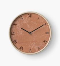 Beige canvas cloth textured abstract Clock