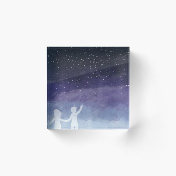 Looking for the stars Acrylic Block