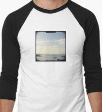 Boat on the ocean Men's Baseball ¾ T-Shirt