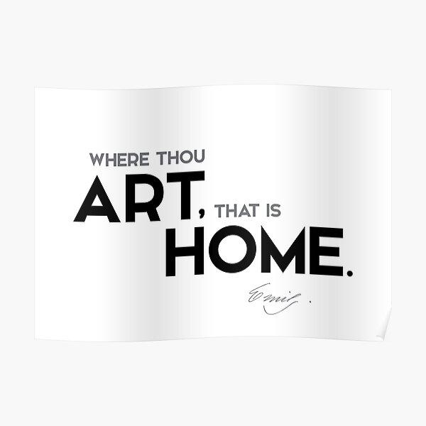 art, home - emily dickinson Poster