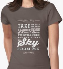 Firefly Theme Song Lyrics Womens Fitted T-Shirt