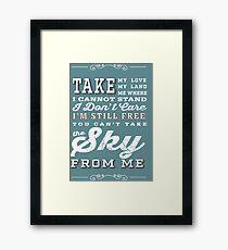 Firefly Theme Song Lyrics Framed Print