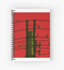 Birds On A Wire Spiral Notebook