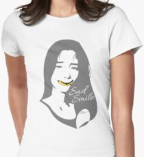 Sad Smile 2 Womens Fitted T-Shirt