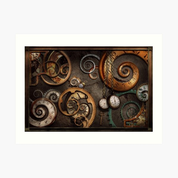 Steampunk - Abstract - Time is complicated Art Print