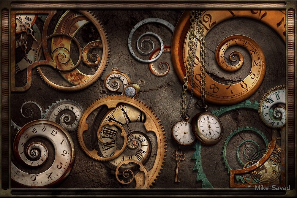 Steampunk - Abstract - Time is complicated by Michael Savad