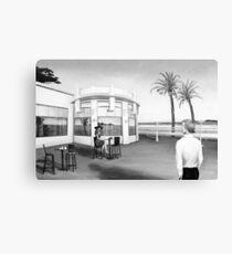 La dernière...(version noir et blanc) Canvas Print