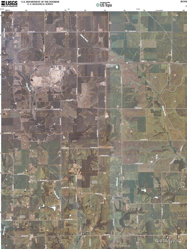 USGS TOPO Maps Iowa IA Runnells 20100513 TM von wetdryvac