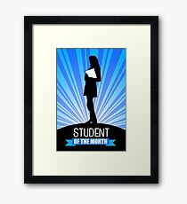 student of the month Framed Print