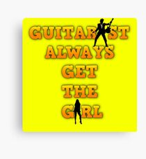Guitarist Win Canvas Print
