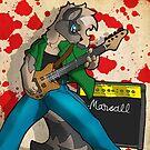 Rockin out racoon by TehBurningDonut