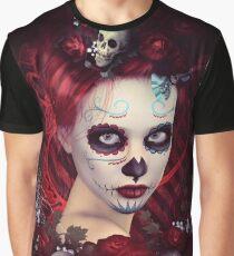 Sugar Doll Red Dia De Muertos Graphic T-Shirt