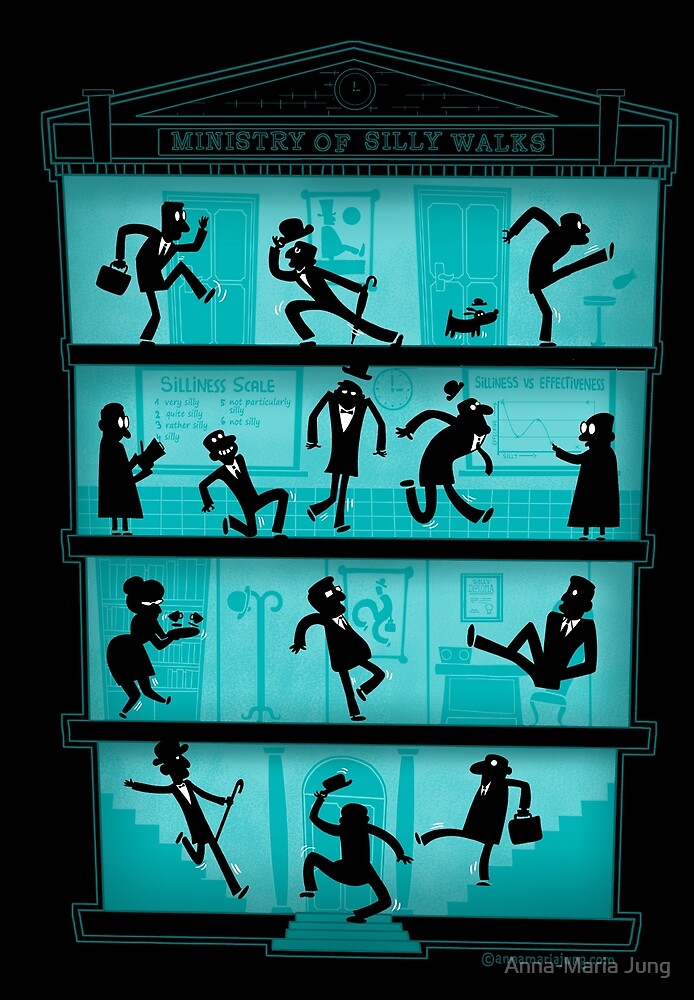 Ministry of Silly Walks by Queenmob