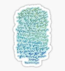 The Lord's Prayer - sticker Sticker