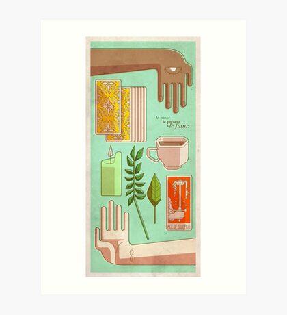 Tarot - Passé, présent et futur Art Print