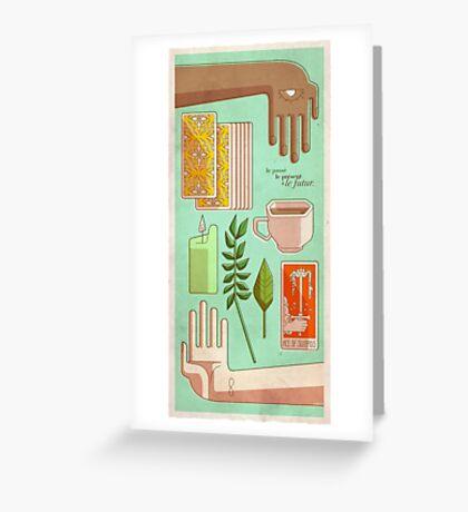 Tarot - Passé, présent et futur Greeting Card