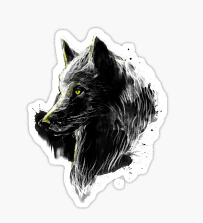 black wolf Sticker