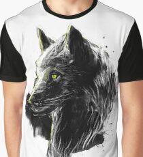 black wolf Graphic T-Shirt