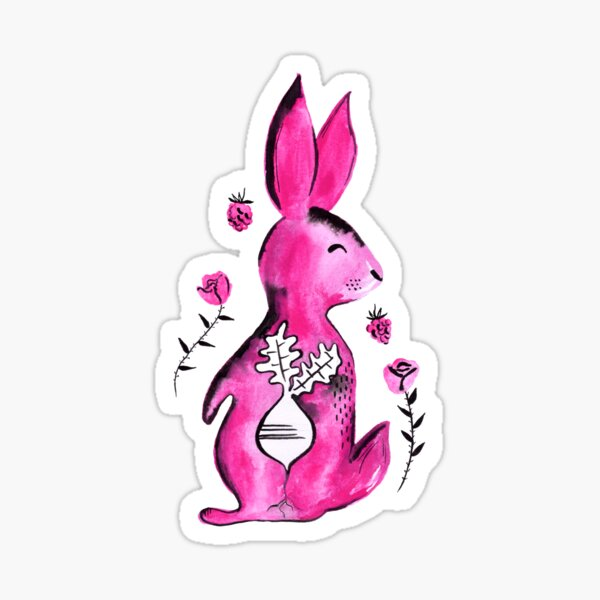 R is for Rabbit Sticker