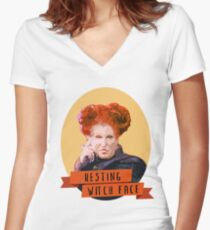 Resting Witch Face -winifred Sanderson Hocus Pocus Women's Fitted V-Neck T-Shirt