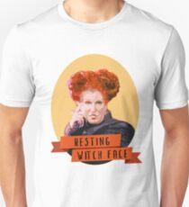 Resting Witch Face -winifred Sanderson Hocus Pocus Unisex T-Shirt