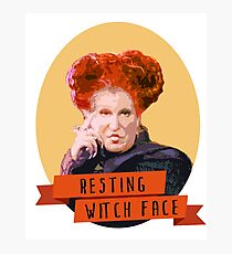 Resting Witch Face -winifred Sanderson Hocus Pocus Photographic Print