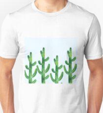 Cyan blue - field of cacti Unisex T-Shirt