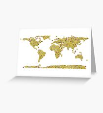 smiley emoji making up the world map Greeting Card