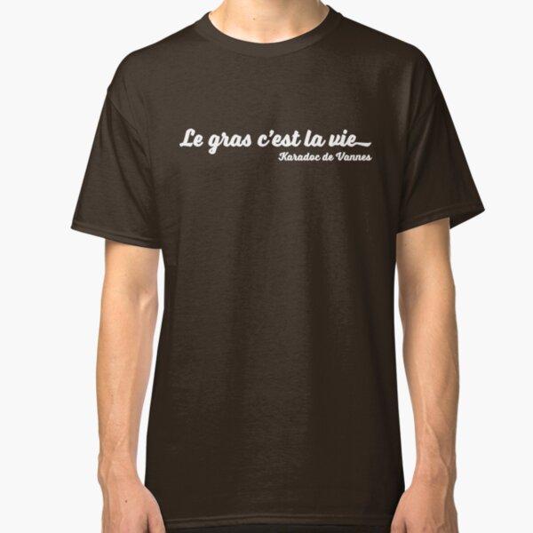 Le gras c'est la vie (white) T-shirt classique