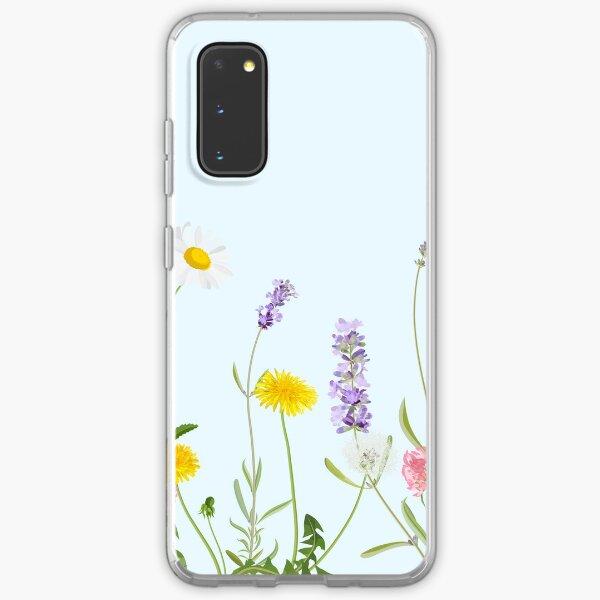 Pastel cyan - wildflower dreams Samsung Galaxy Soft Case