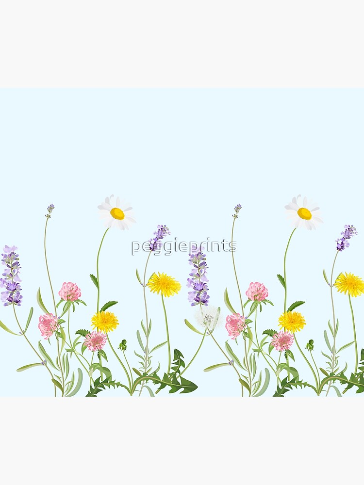 Pastel cyan - wildflower dreams by peggieprints