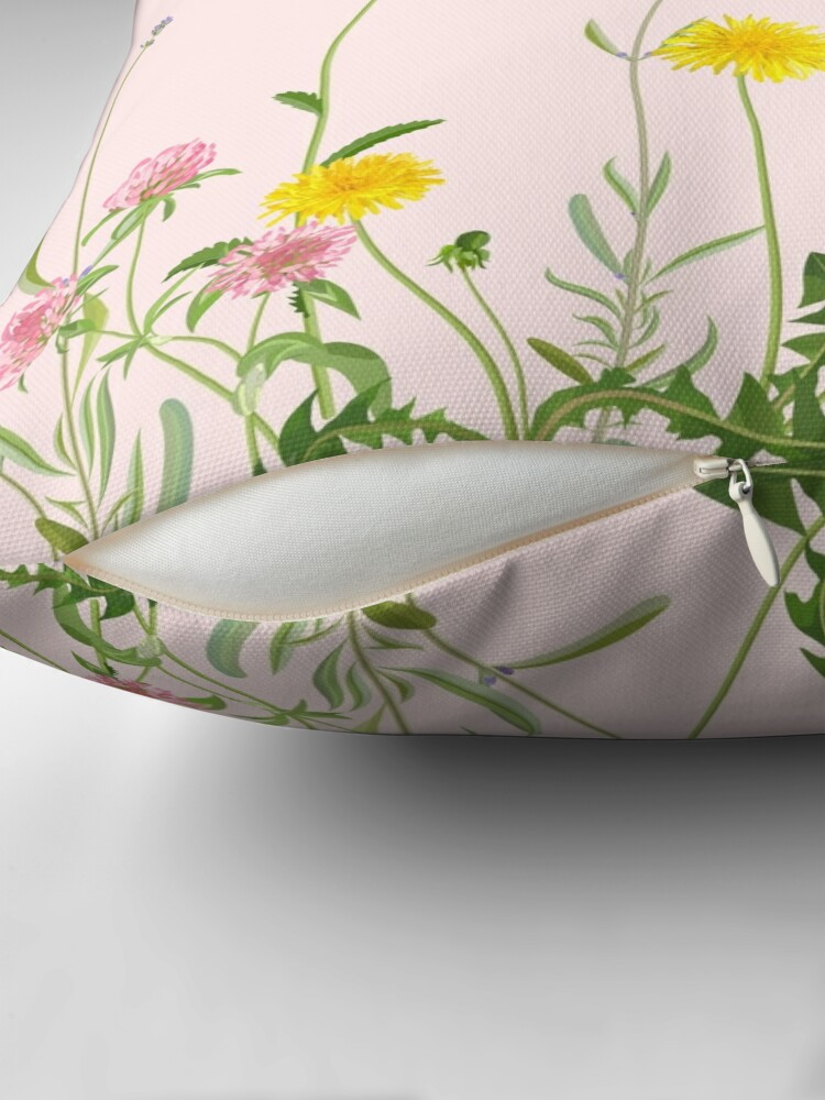 Alternate view of Blush pink - wildflower dreams Throw Pillow